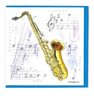 Music Sales Ltd Little snoring notelets sax 5pk Little snoring notelets 5pk Saxophone Design
