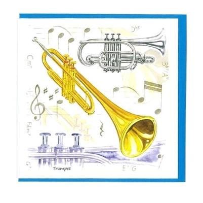 Music Sales Ltd Little snoring notelets TPT 5pk Little snoring notelets TPT 5pk Trumpet Design
