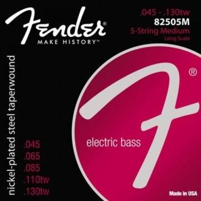 Fender ORIGINAL Nickel Plated Long Scale .045-.130 NPS Roundcore / Taperwound Medium