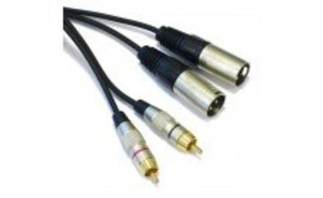 Power Acoustics CAB 2066 2 Xlr Mâles/ 2 Rca Mâle 3m