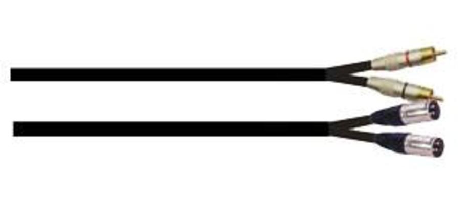 Power Acoustics CAB 2067 2 Xlr Mâles/ 2 Rca Mâle 6m