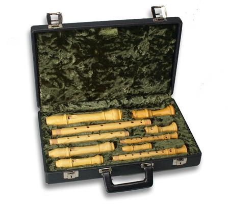 Moeck Z1400 tui flûte à bec tui 4 instruments pour flûte à bec sopranino soprano alto et ténor