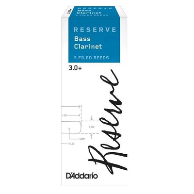 Rico RER05305 Reserve, Clarinette Basse 3.0+ Boîte de 5
