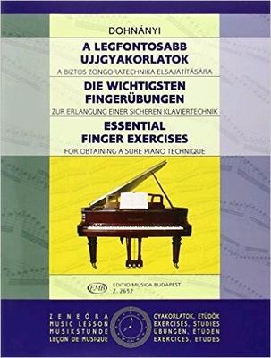 Essential Finger ExercisesDie wichtigsten Fingerübungen / Dohnanyi Erno / EMB Editions Musica Budapest