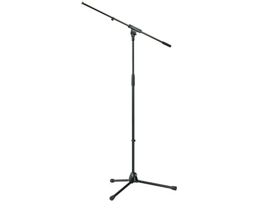 K & M 210/6s Stand micro avec perche en noir 210/6