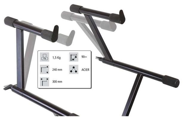 Audiophony KB-EXT90 Extension pour support de régie à 90 H 24 cm