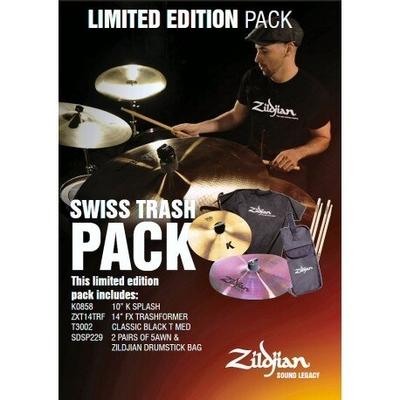 Zildjian Limited Edition PACK, Swiss Trash PACK / K SPLASH 10» / FX TRASHFORMER 14» / T-SHIRT M / STICK LIMITED EDITION