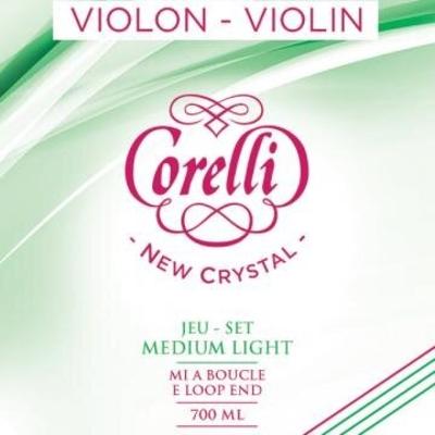 Corelli Crystal Jeu 4/4 à boucle stabylon Medium Light pour violon