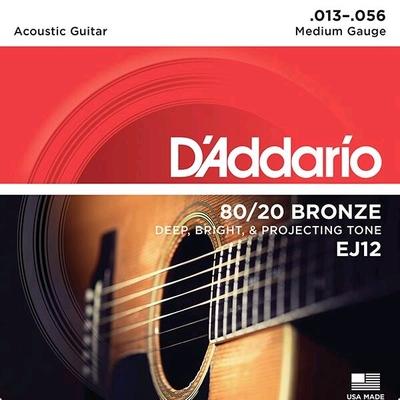 D'Addario EJ12 80/20 Bronze Wound .013-.056 Medium