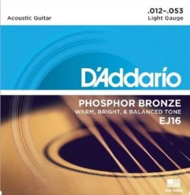 D'Addario EJ16 .012-.053 Phosphor Bronze Wound Light