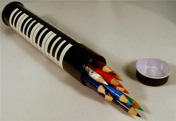 Boullard Musique 12 crayons crayons de couleur dans une boîte design clavier