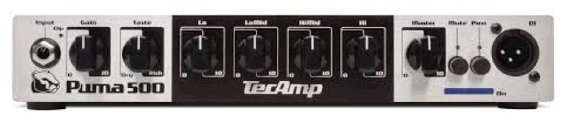 TecAmp Puma 500 Head 500 W 4 Ohm, 300 W 8 Ohm