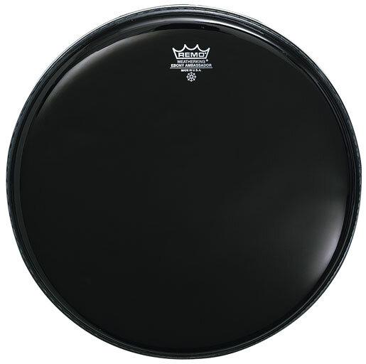 Remo ES-0006-00 Ebony Ambassador Noire 06» Peau de résonance : photo 1