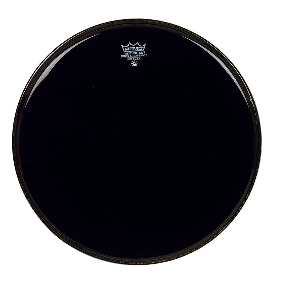 Remo ES-0015-00 Ebony Ambassador Noire 15» Peau de résonance : photo 1
