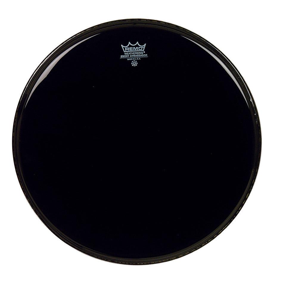 Remo ES-0018-00 Ebony Ambassador Noire 18» Peau de résonance : photo 1