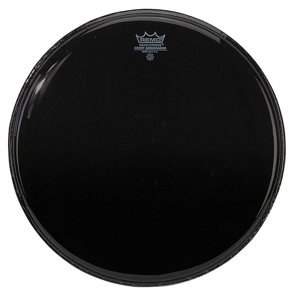 Remo ES-1020-00 Ebony Ambassador Noire 20» Peau de résonance pour grosse caisse : photo 1