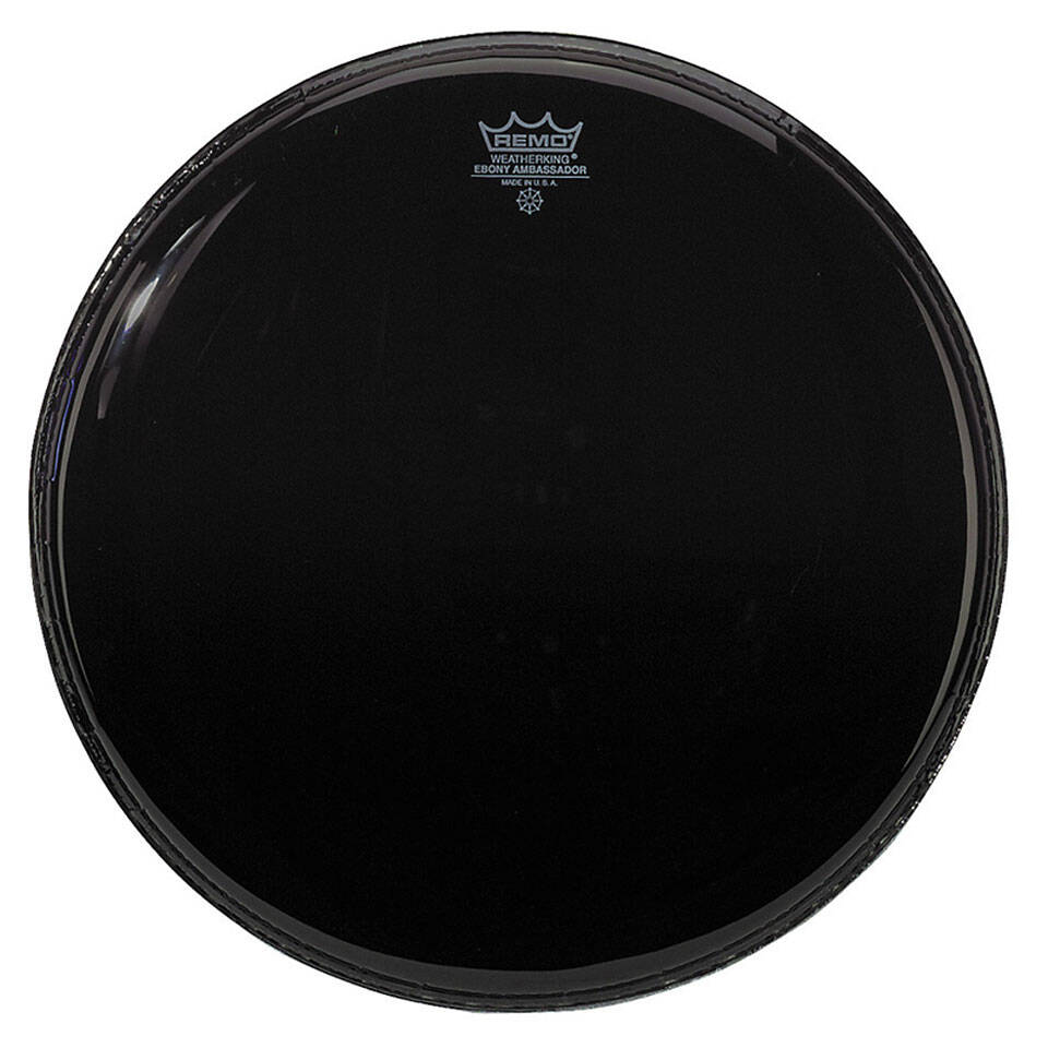 Remo ES-1022-00 Ebony Ambassador Noire 22» Peau de résonance pour grosse caisse : photo 1