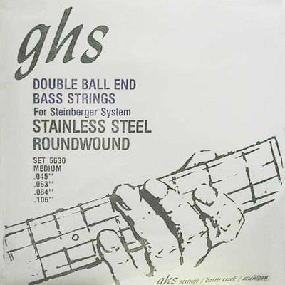GHS El. Bass 4 String DOUBLE BALL End .045-.105 Stainl. Steel Round Wound Medium