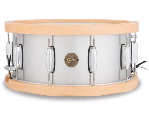 Gretsch Drums S1-6514A-WH Snare Gold Serie Aluminium Wood Hoop 6.5×14