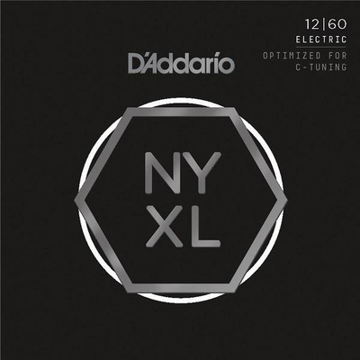 D'Addario NYXL1260 NEW YORK XL Nickel Round Wound .012-.060 Extra Heavy