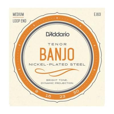 D'Addario EJ63 Tenor Banjo 4 Strings Set Nickel Wound à boucle