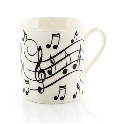 Music Sales Music Notes MUG Black On White