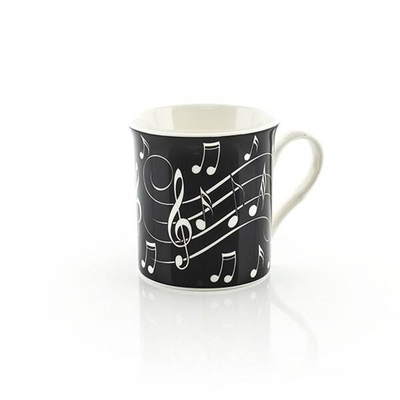Music Sales Music Notes MUG White On Black
