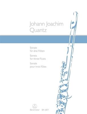 Sonata for three Flutes / Quantz Johann Joachim / Bärenreiter