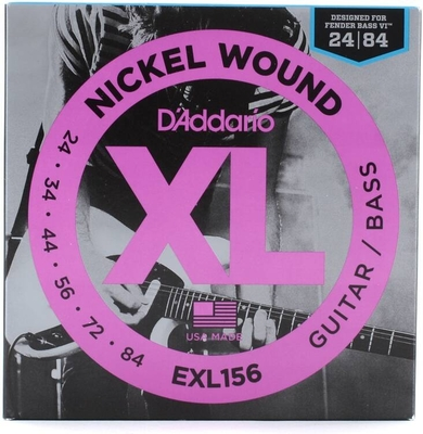 D'Addario EXL156 Baritone / Nickel Round Wound .024-.084 Fender Bass VI