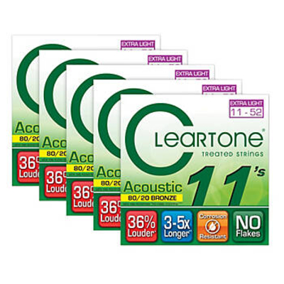 Cleartone Acoustic EMP Bronze Strings .011 .015 .024w .032 .042 .052