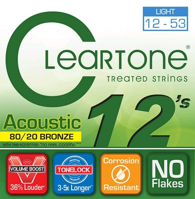 Cleartone Acoustic EMP Bronze Strings .012 .016 .025w .033 .043 .053