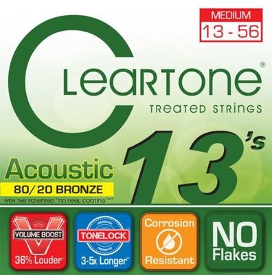 Cleartone Acoustic EMP 80-20 Bronze, Acoustic Guitar String Set, Medium, .013-.056
