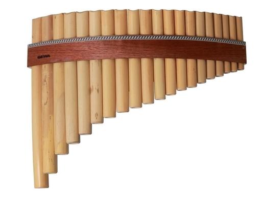 Gewa Flûte de pan 20 tubes Bambou en Do majeur de Fa 1 à Ré 4