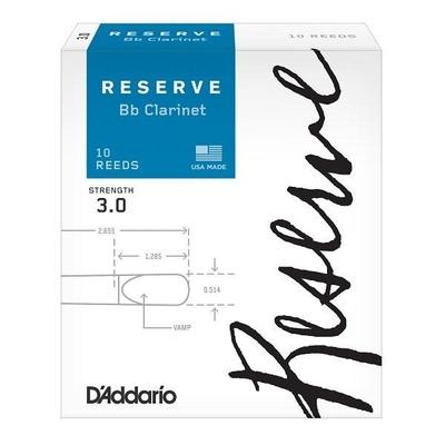 D'Addario DCR1030 Woodwinds Reserve, Clar. Sib, #3, boîte de 10