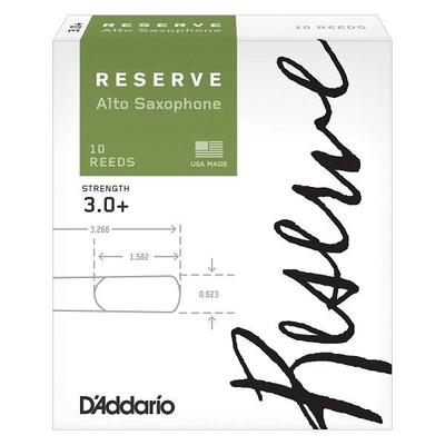 D'Addario DJR10305 Woodwinds Reserve, Sax alto, #3.0+, boîte de 10