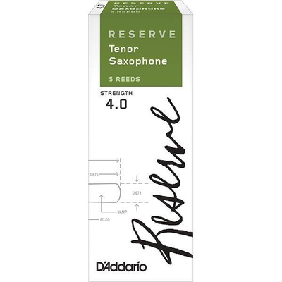 Rico Reserve DKR0540 D'Addario Reserve, Sax Ténor, #4, boîte de 5