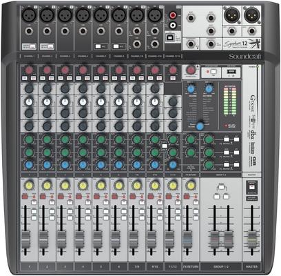 Soundcraft SIGNATURE12MTK 12+14/12 Live-/Rec Desk, USB-MTK
