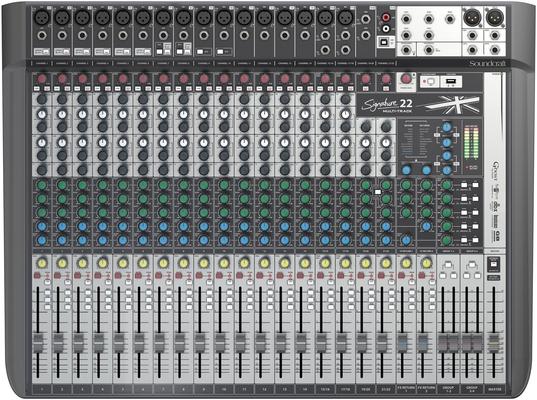 Soundcraft SIGNATURE22MTK 22+24/22 Live-/Rec Desk, USB-MTK