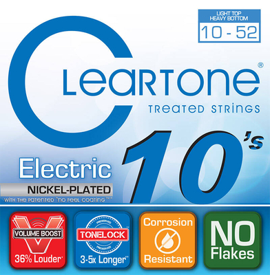 Cleartone 9420 Top Heavy Bottom 10-52 Electric Nickel Plated
