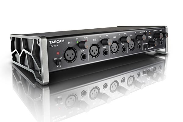 Tascam US-4x4HR, USB Audio/MIDI interface 4 in/out, MIDI, USB 2.0