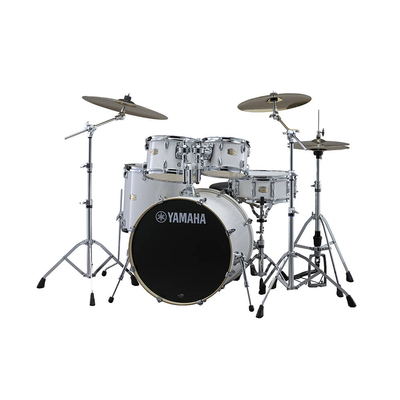 Yamaha Percussions SBP0F5PWH Stage Custom All Birch Shell Pure White + Hardware