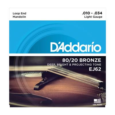 D'Addario Mandola Strings .014 – .014 – .023 – .023 – .034 – .034 – .049 – .049 Phosphor Bronze Light