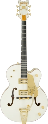 Gretsch G6136T-59 Vintage Select Edition '59 Falcon Hollow Body with Bigsby, TV Jones, Vintage White