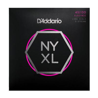 D'Addario NYXL45130 El. Bass 5-String »New York XL» .045-.130 Nickel R/W Long Scale, Regular Light