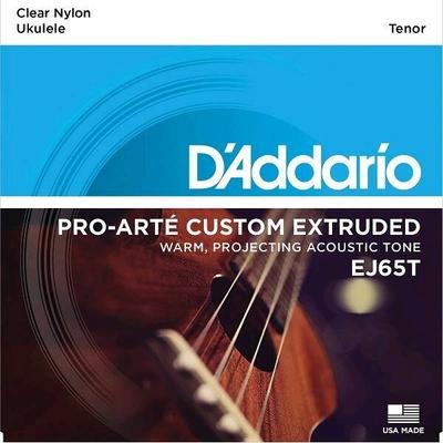 D'Addario EJ65T Set Ukulele Tenor »Pro-Arté Custom Extruded», .0285 – .029 Clear Nylon