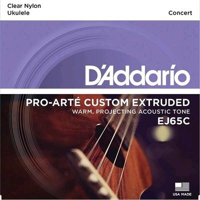 D'Addario EJ65C Set Ukulele Concert»Pro-Arté Custom Extruded», .028 – .028 Clear Nylon