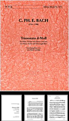 C.P.E BACH Trio Sonate Wq 145 ré mineur / D mollédition Alfred Dürr / Carl Philipp Emanuel Bach / Moeck