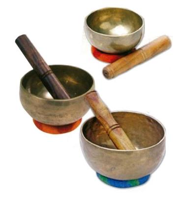 Terre 487300-600Set Singing bowl 600g set avec ring
