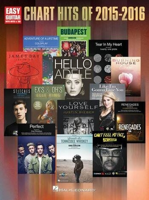 Chart Hits Of 2015-2016 Easy Guitar with Notes plus Tab /  / Hal Leonard