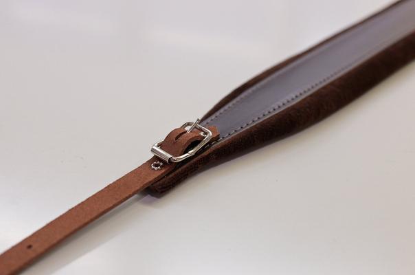Fuselli Bretelle 70mm Velvet natural cuir marron foncé